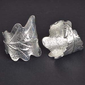 Glover and Smith English Pewter Oak Leaf and Acorn Napkin Ring Pair
