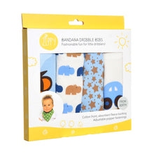 Load image into Gallery viewer, Ziggle Set Of Four Bandanna Dribble Bibs