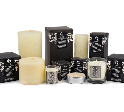 Melt Tall Pillar Candle Hush