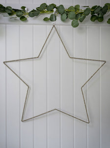 75 cm Beaded Star Decoration