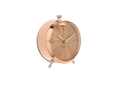 Karlsson Button Copper Alarm Clock