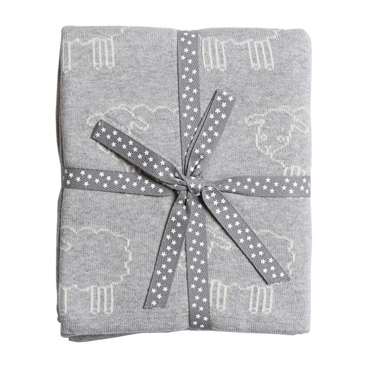 Grey Sheep Knitted Baby Blanket