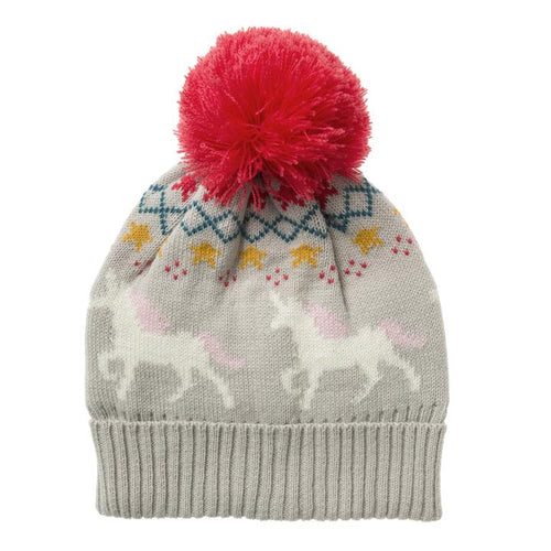 Unicorn Knitted Kids Pom Pom Hat