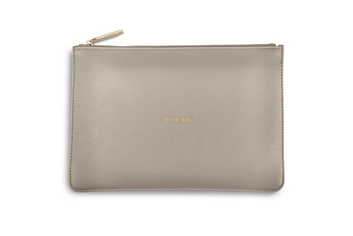 Katie Loxton Perfect Pouch In The Bag In Soft Grey