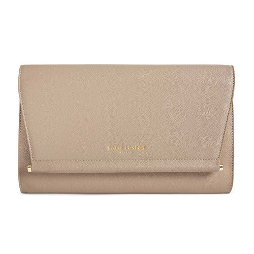Ava Clutch Bag Taupe