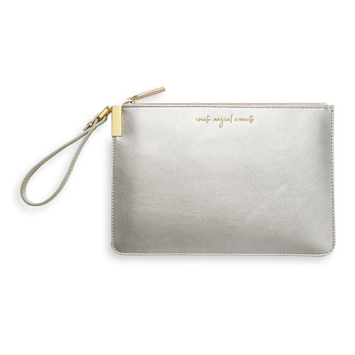 Katie Loxton Secret Message Pouch Silver
