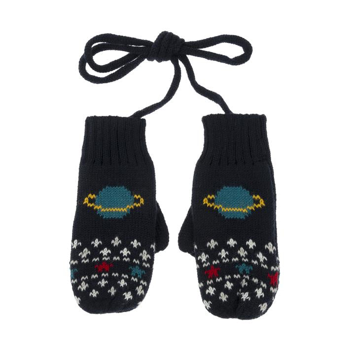 Space Kids Knitted Mittens