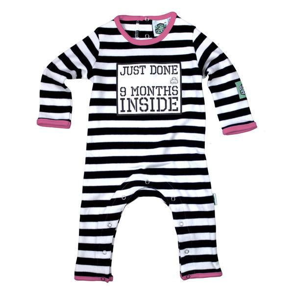 Nine Months Organic Cotton Baby Grow Pink