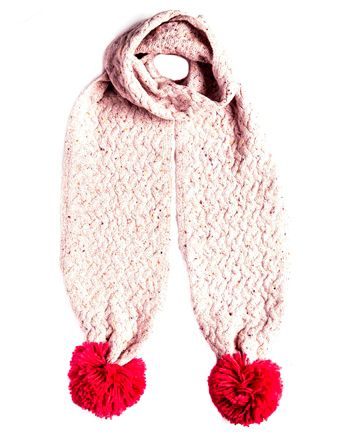 Andora Pink Knitted Scarf