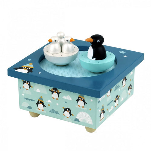 Mother Penguin & Chicks Musical Box