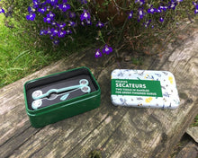Load image into Gallery viewer, Folding Secateurs In A Tin