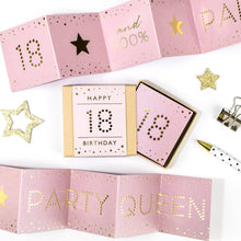 Load image into Gallery viewer, Party Queen 18th Birthday Boxed Concertina Card