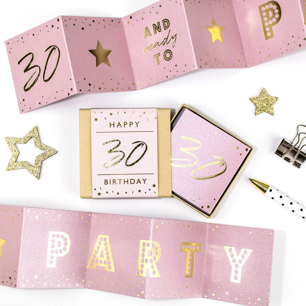 Ready to Party 30th Birthday Boxed Concertina Card