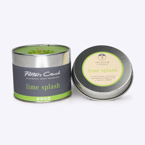 Potters Crouch Lime Splash Candle Tin 250g