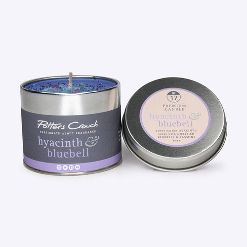 Potters Crouch Hyacinth and Bluebell Candle Tin 250g