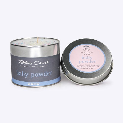 Potters Crouch Baby Powder Candle Tin 250g