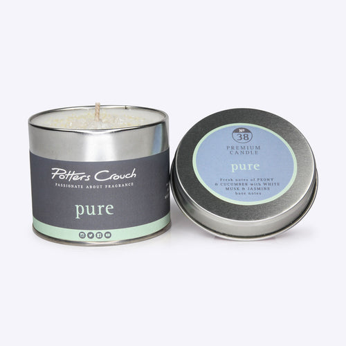 Potters Crouch Pure Candle Tin 250g