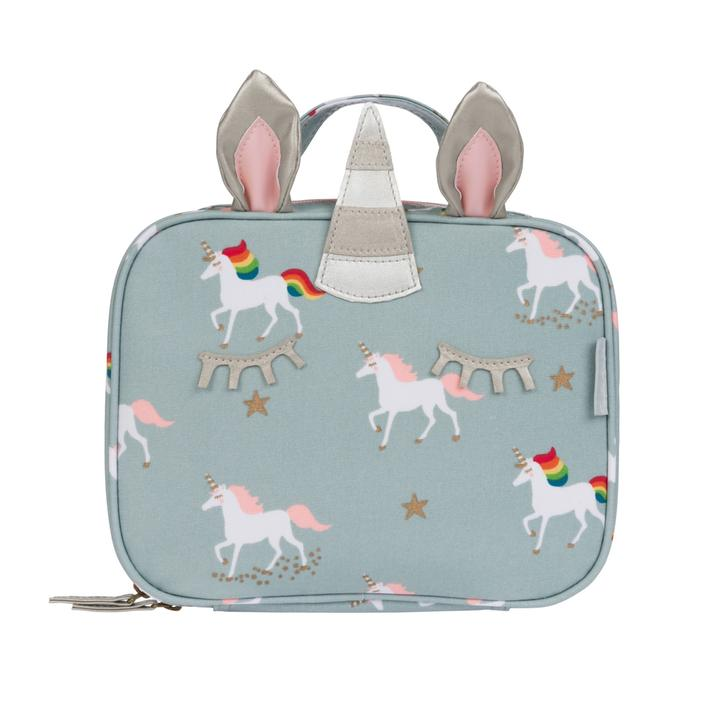 Unicorn Oilcloth Lunch Bag