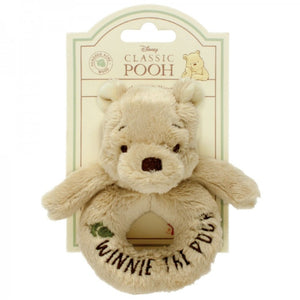 Rainbow Designs Classic Pooh Winnie the Pooh Ring Rattle