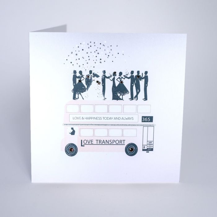 Love & Happiness Wedding Greetings Card