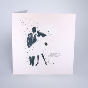 With Love To The Bride & Groom Greetings Card