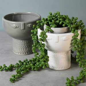 Grey Face Decorative Bowl Vase