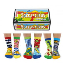 Load image into Gallery viewer, Sockasaurus Six Roarsome Odd-Socks Gift Set