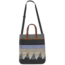 Load image into Gallery viewer, Earth Squared Screen Print Patchwork New Messenger Bag / Tote Bag (Navy or Grey)