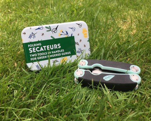 Folding Secateurs In A Tin