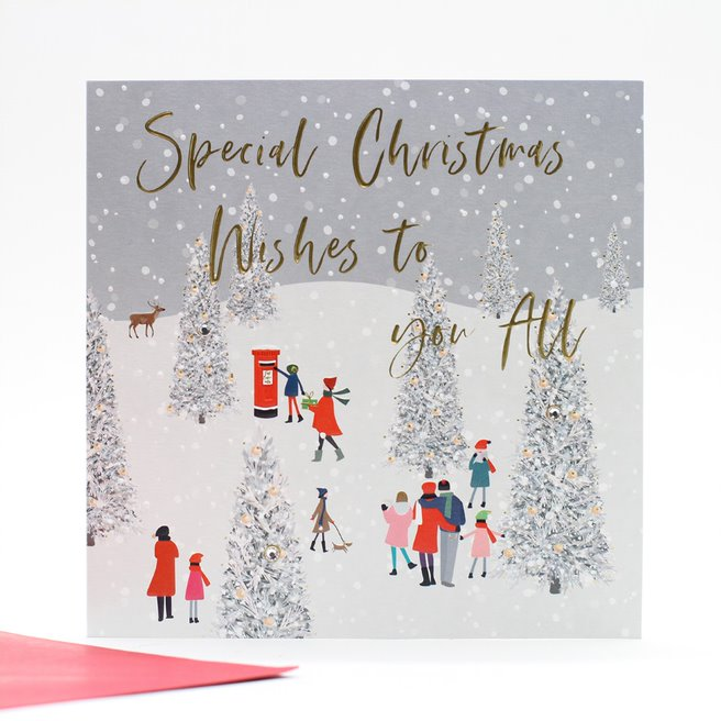 Luxury Foiled Single Christmas Card