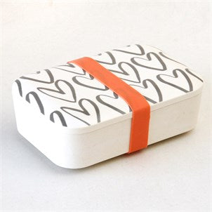 Bamboo Outline Hearts Lunchbox