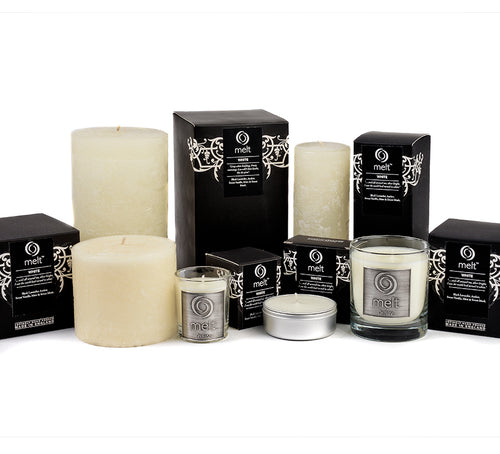 Melt tall Pillar Candle White