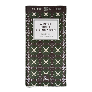 Winter Fruits & Cinnamon Dark Chocolate Bar