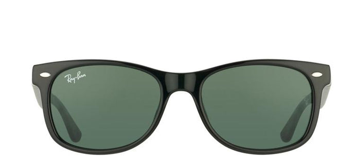 Ray-Ban Jr RJ 9052 Wayfarer Plastic Sunglasses - Black with Green Lens