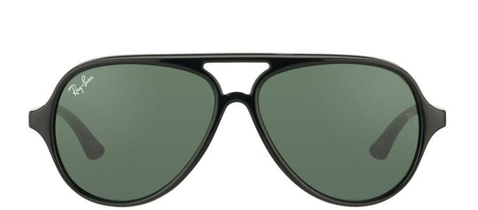 Ray-Ban Jr RJ 9049 Aviator Plastic Sunglasses - Black with Green Lens
