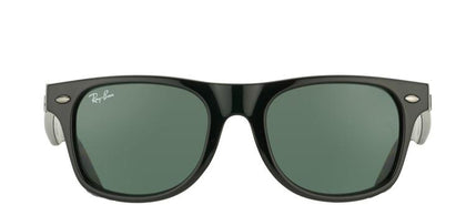 Ray-Ban Jr RJ 9035 Wayfarer Plastic Sunglasses - Black with Green Lens