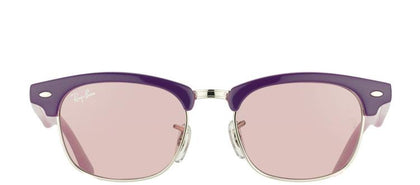 Ray-Ban Jr RJ 9050 179/7E Violet in Pink And Silver Clubmaster Plastic Sunglasses