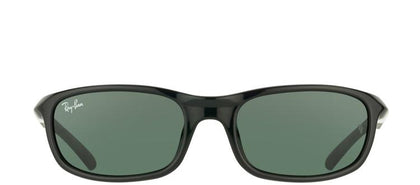 Ray-Ban Jr RJ 9056 Sport Plastic Sunglasses - Black with Green Lens