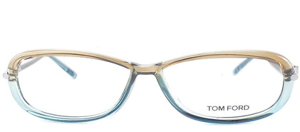 Tom Ford FT 5139 50A Brown Blue Rectangle Plastic Eyeglasses