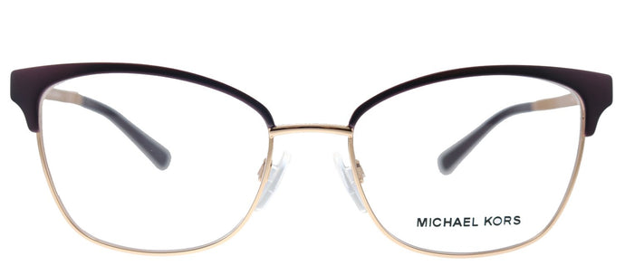 Michael Kors Adrianna IV MK 3012 1108 Matte Cordovan Rose Gold Cat-Eye Metal Eyeglasses