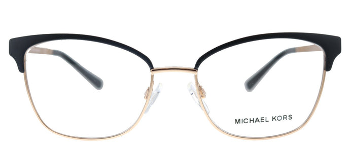 Michael Kors Adrianna IV MK 3012 1113 Matte Black Rose Gold Cat-Eye Metal Eyeglasses