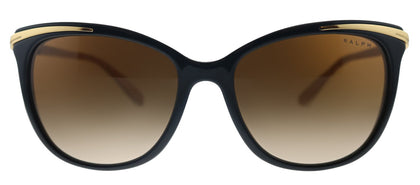 Ralph by Ralph Lauren RA 5203 109013 Shiny Black on Nude Gold Cat-Eye Plastic Sunglasses