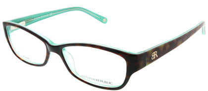 Banana Republic Buffy JSD Tortoise on Mint Rectangle Plastic Eyeglasses
