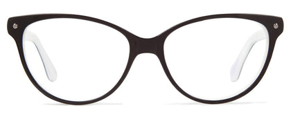 Cynthia Rowley Eyewear CR5002 No. 51 Black/Bone Cat-Eye Plastic Eyeglasses