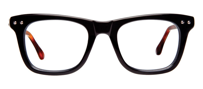 Cynthia Rowley Eyewear CR5003 No. 62 Black Square Plastic Eyeglasses