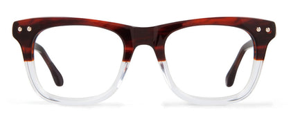 Cynthia Rowley Eyewear CR5003 No. 62 Brown Fade Square Plastic Eyeglasses