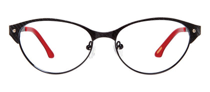 Cynthia Rowley Eyewear CR5004 No. 12 Black Cat-Eye Metal Eyeglasses