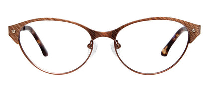 Cynthia Rowley Eyewear CR5004 No. 12 Bronze Cat-Eye Metal Eyeglasses