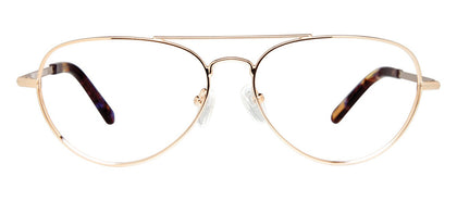 Cynthia Rowley Eyewear CR5005 No. 86 Gold Aviator Metal Eyeglasses