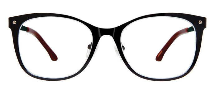 Cynthia Rowley Eyewear CR5006 No. 87 Black Square Metal Eyeglasses
